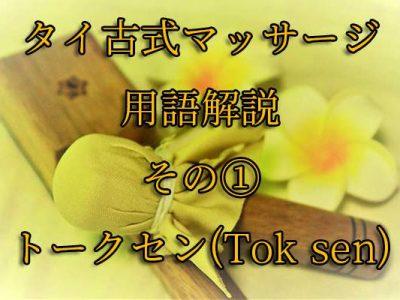 【タイ古式マッサージ用語】トークセン(Tok Sen)について解説します